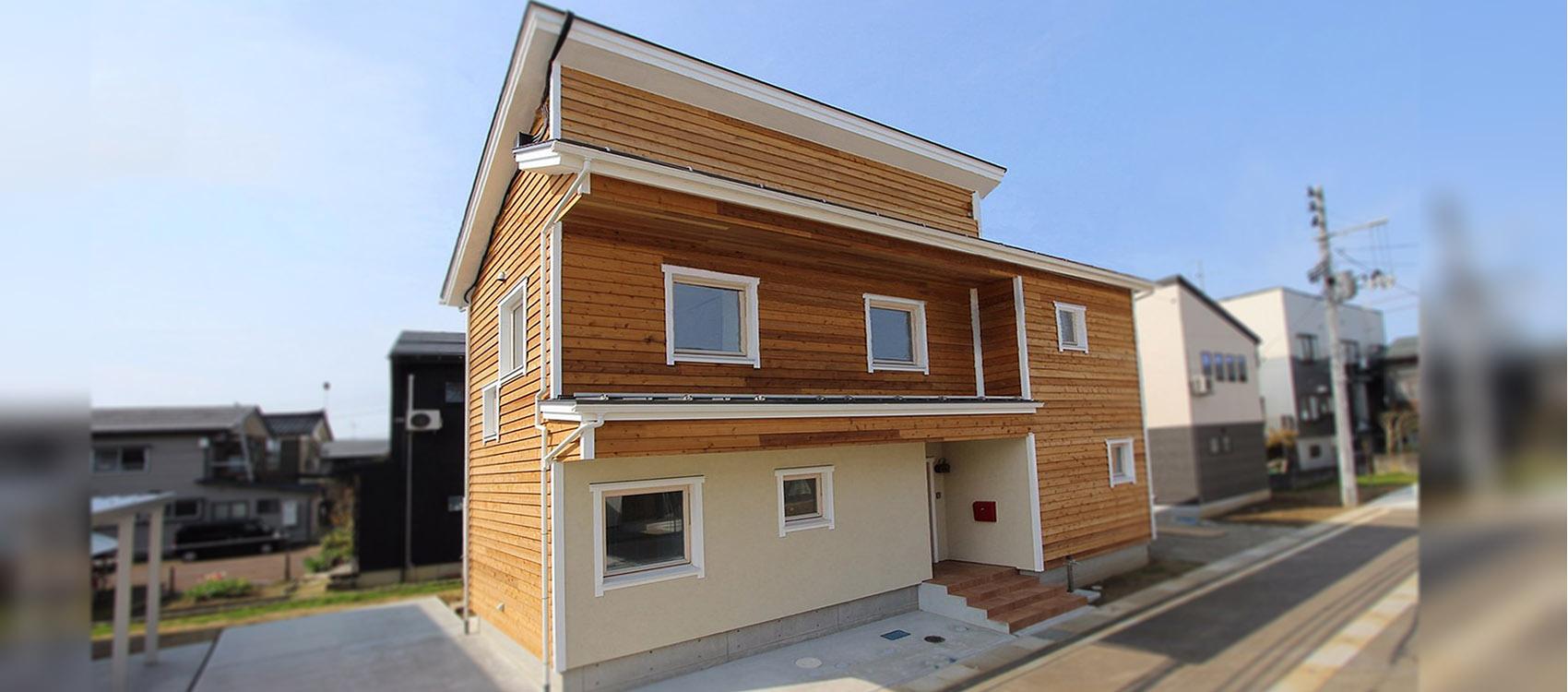 新潟県長岡市の注文住宅・新築・注文住宅・デザイン住宅なら・身体と環境に優しい健康住宅を建てる加藤建築。全棟小さなエアコン1台の冷暖房で1年中快適に過ごせる、夢のような家づくりを実現しています。